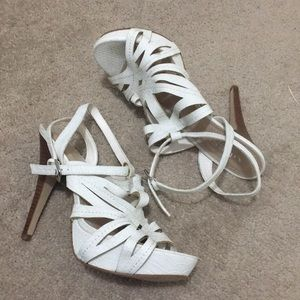 GUESS White Strap Heels